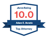 AVVO Rating 10.0 Top Attorney - Adam S. Avratin Esq.